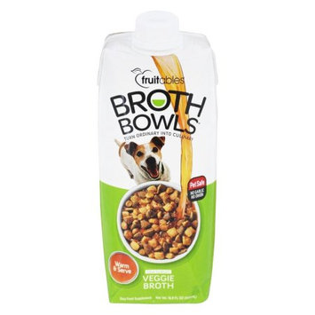 Fruitables Broth Bowls Vegetable Broth for Dogs 16.9oz