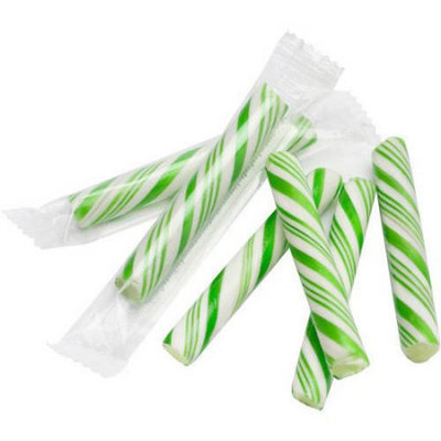 Yum Junkie Sticklettes - Green and White Lime Flavored: 250 Count