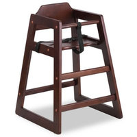 Flash Furniture Baby High Chair in Walnut