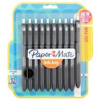 Paper-mate Paper Mate(R) InkJoy(R) Gel Pens, Medium Point, 0.7mm, Black Barrel, Black Ink, Pack Of 10