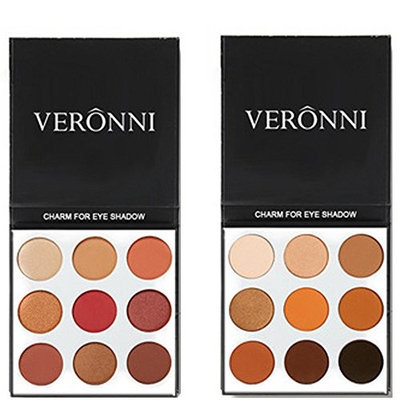 VERONNI Eyeshadow Palette, Matte Long Lasting 9 Color Eye Shadow Powder for Party Show Stage Makeup