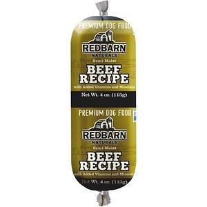 Redbarn Naturals Beef Recipe Dog Food Roll, 4-oz