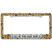 Graphics And More All My Kids Have Paws Prints Dogs Cats Blue License Plate Tag Frame, Multiple Colors
