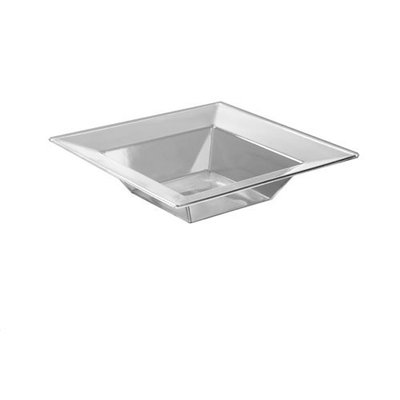 Emi Yoshi Squares 5 oz Dessert Bowl Clear Pack Of 10
