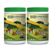 Beet root capsules - GREENS SUPERFOOD POWDER WITH NATURAL PINEAPPLE FLAVOR 300G - increase fertility (2 Bottles)