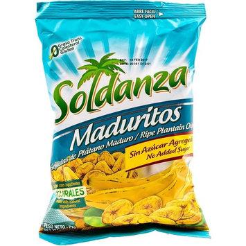Soldanza Maduritos Plantain Chips, 2.5 Ounce (Pack of 24) 100% Natural Ripe Plantain Chips, No Cholesterol, No Trans Fats, No Additives, Natural Healthy Snack