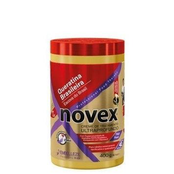 Embelleze Novex Brazilian Keratin Hair Care Treatment Cream - 14.1 Oz | Embelleze Novex Creme de Tratamento Capilar com Queratina Brasileira - 400g