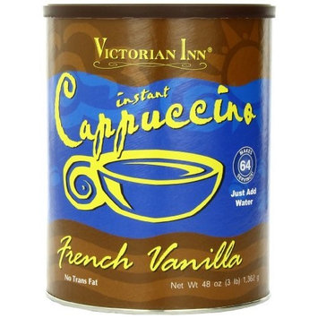Victorian Inn French Vanilla Cappuccino, 48-Ounce Cans (Pack of 2)