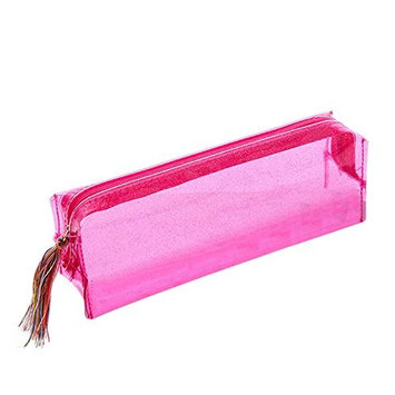 Cosmetic Bag Pencil Case, TRENDINAO Women Girls Colorful Laser Transparent Pencil Case Cosmetic Bag Makeup Pouch