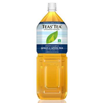 Teas' Tea Unsweetened Green + White Tea 67.6 oz Plastic Bottles - Pack of 6