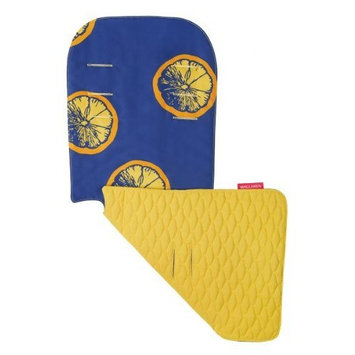 Maclaren Seat Liner, Fruit Slices Estate Blue/Spectra Yellow (Discontinued by Manufacturer)