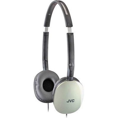 JVC HAS160S Jvc silver flats lightweight folding headphones