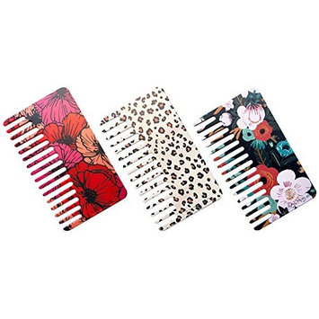Go-Comb - Wallet Sized Hair & Travel Comb - Wide Tooth - Women's Plastic 3-Pack