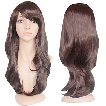 EmaxDesign Wigs 28 Inch Cosplay Wig For Women With Wig Cap and Comb(Dark Brown)