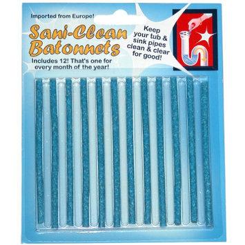 Hampton Direct Set of 12 Sani-Clean Batonnets Sink Drain Pipe Cleaner Odor Free Tub SInk Pipes