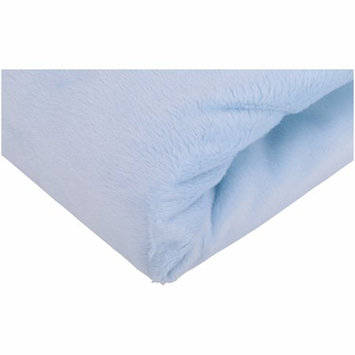 Triboro Quiilt Manufacturing Corporation Child of Mine by Carter's Transportation Plush Fitted Crib Sheet, Blue