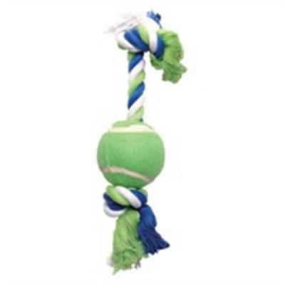 Hagen Dogit Striped Rope Bone with Tennis Ball