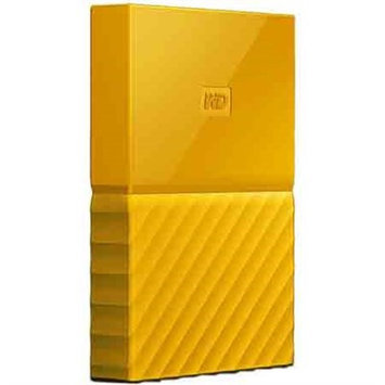 Western Dig Tech. Inc Wd - My Passport 2TB External USB 3.0 Portable Hard Drive - Yellow