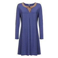 Elegant Women Casual Plus Sizes Long Sleeve Elbow Patch Loose Short T-Shirt Dress