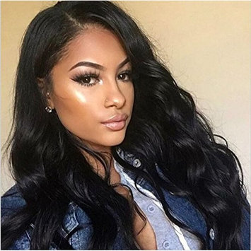 Ms Fenda 360 Lace Frontal Closure Brazilian Human Hair Pre Plucked Lace Band Frontal Natural Hairline with Baby Hair Slightly Bleached Lace Frontal for Ponytail