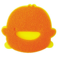 Piyo Piyo Double Layer Bath Sponge in Orange/Yellow