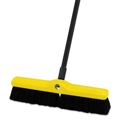 Rubbermaid Black Brush Floor Polypropylene Medium 18