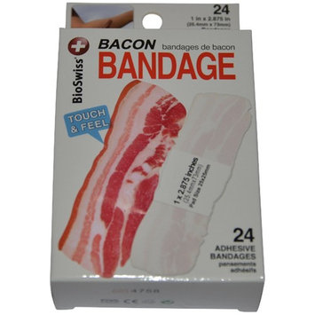 BioSwiss Novelty Bandages Self-Adhesive Funny First Aid, Novelty Gag Gift (24pc)