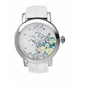 Gio Monaco Women's 790-F Season White Spring Dial Alligator Leather Watch