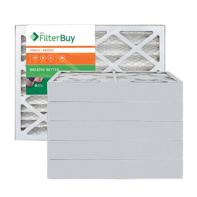 AFB Bronze MERV 6 12x24x4 Pleated AC Furnace Air Filter. Filters. 100% produced in the USA. (Pack of 6)