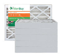 AFB Bronze MERV 6 17x25x4 Pleated AC Furnace Air Filter. Filters. 100% produced in the USA. (Pack of 6)