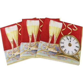 Celebrations Design Print Cocktail Napkins, Pack of 20, Midnight Madness