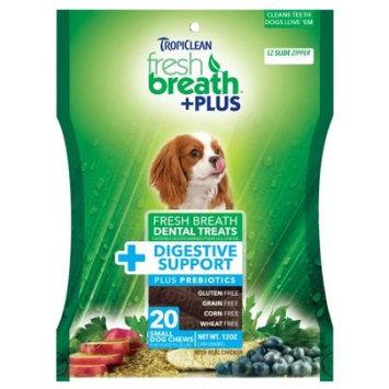 Tropiclean Fresh Breath Plus Small Dental Treats - Digestive Support - 12oz