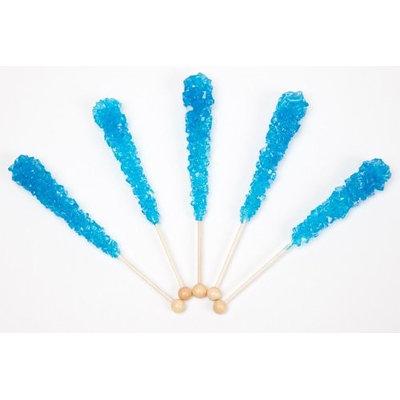Dryden & Palmer Blue Raspberry Wrapped Rock Candy Sticks (10 Pieces)