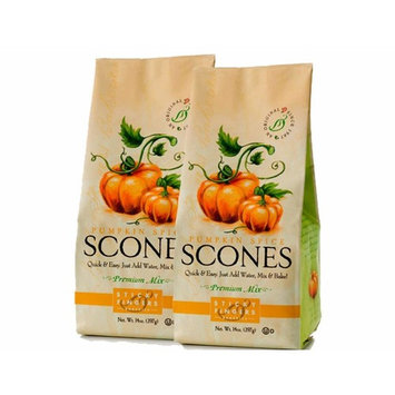 Sticky Fingers Scone Mix (Pack of 2) 15 Ounce Bags – All Natural Scone Baking Mix (Pumpkin Spice)