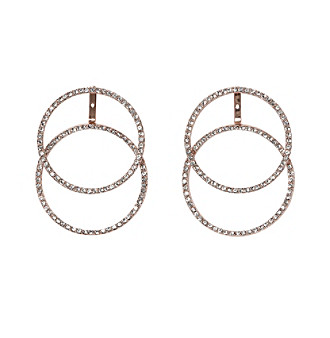 Vince Camuto™ Clear Crystal Pave Double Hoop Earrings