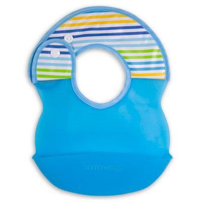 Summer Infant Deluxe Bibbity Rinse & Roll Bib, Blue