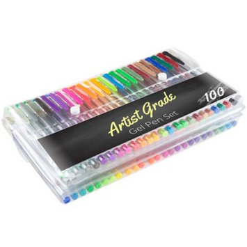 Qvc Set of 100 Gel Pen Set by Artist Grade