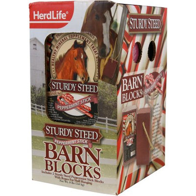 Evolved Habitats Herd Life Sturdy 4lb Steed Barn Block, Peppermint, 2pk