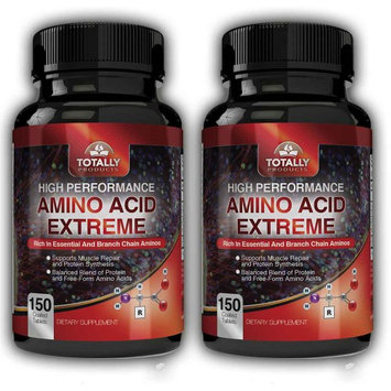Totally Products Advanced Body Building Amino Acids 2200mg (300 Tablets) (Pack of 2)