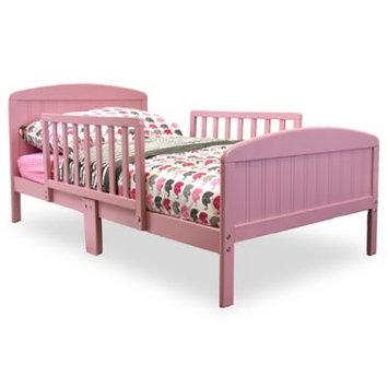 Rack Furniture For Children Russell Children XL Guardrail Wooden Toddler Bed, Pink