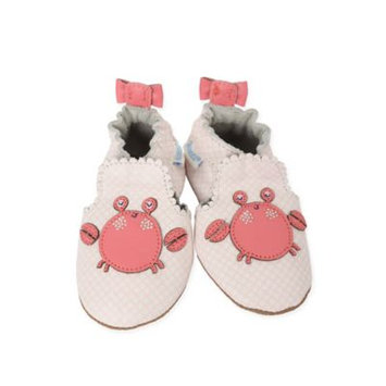 Robeez Soft Soles Crab Cutie Shoes, Baby Girls (0-24 months)