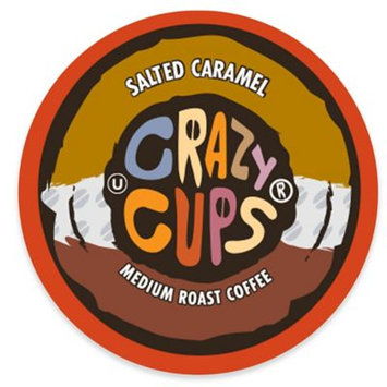 Crazy Cups Salted Caramel Flavored Coffee Single Cups For K cups Brewer, 22 Count