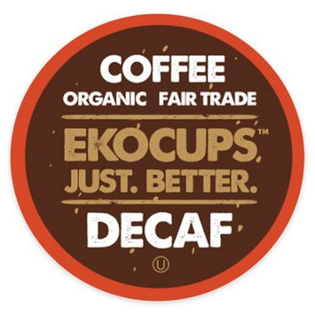 EKOCUPS Artisan Decaf Coffee Single Serve Cups For K cups Brewer USDA Certified Organic And Fair Trade, 40 Count