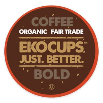 EKOCUPS Artisan Bold Coffee Single Serve Cups For K cups Brewer USDA Certified Organic And Fair Trade, 40 Count
