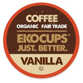 EKOCUPS Artisan Vanilla Coffee Single Serve Cups For K cups Brewer USDA Certified Organic And Fair Trade, 40 Count