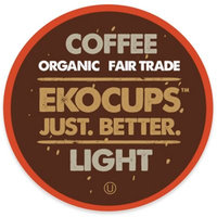 EKOCUPS Artisan Light Coffee Single Serve Cups For K cups Brewer USDA Certified Organic And Fair Trade, 40 Count
