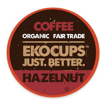 EKOCUPS Artisan Hazelnut Coffee Single Serve Cups For K cups Brewer USDA Certified Organic And Fair Trade, 40 Count