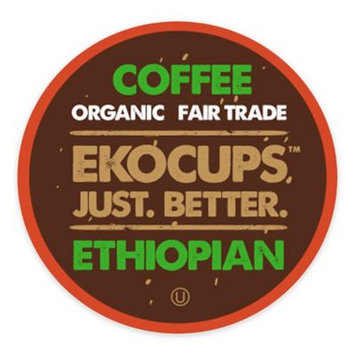 EKOCUPS Artisan Ethiopian Coffee Single Serve Cups For K cups Brewer USDA Certified Organic And Fair Trade, 40 Count