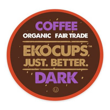 EKOCUPS Artisan Dark Coffee Single Serve Cups For K cups Brewer USDA Certified Organic And Fair Trade, 40 Count