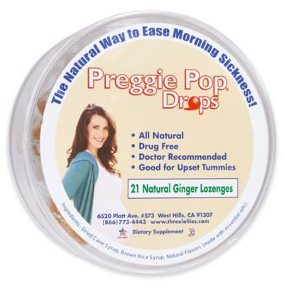 Organic Ginger Preggie Pop Drops